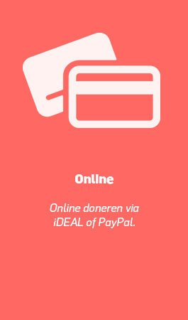 Online geven via iDEAL of PayPal